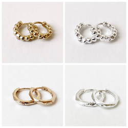 Silver and Gold Mini Hoops