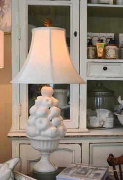 Vintage Ceramic Lamp with Tin Base