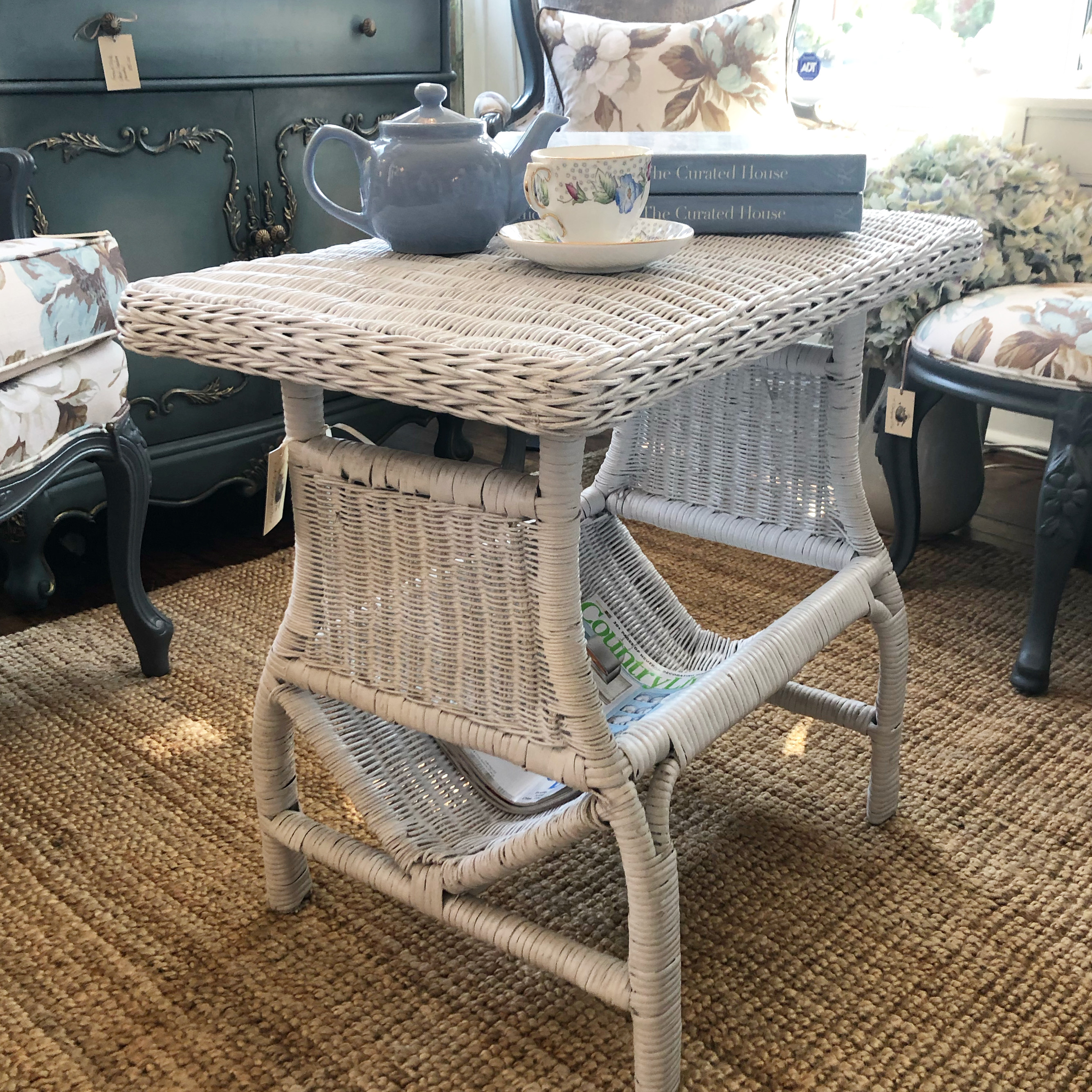 Vintage Wicker Coffee Table