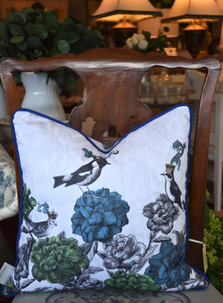 Designer Feather Accent Cushions -
