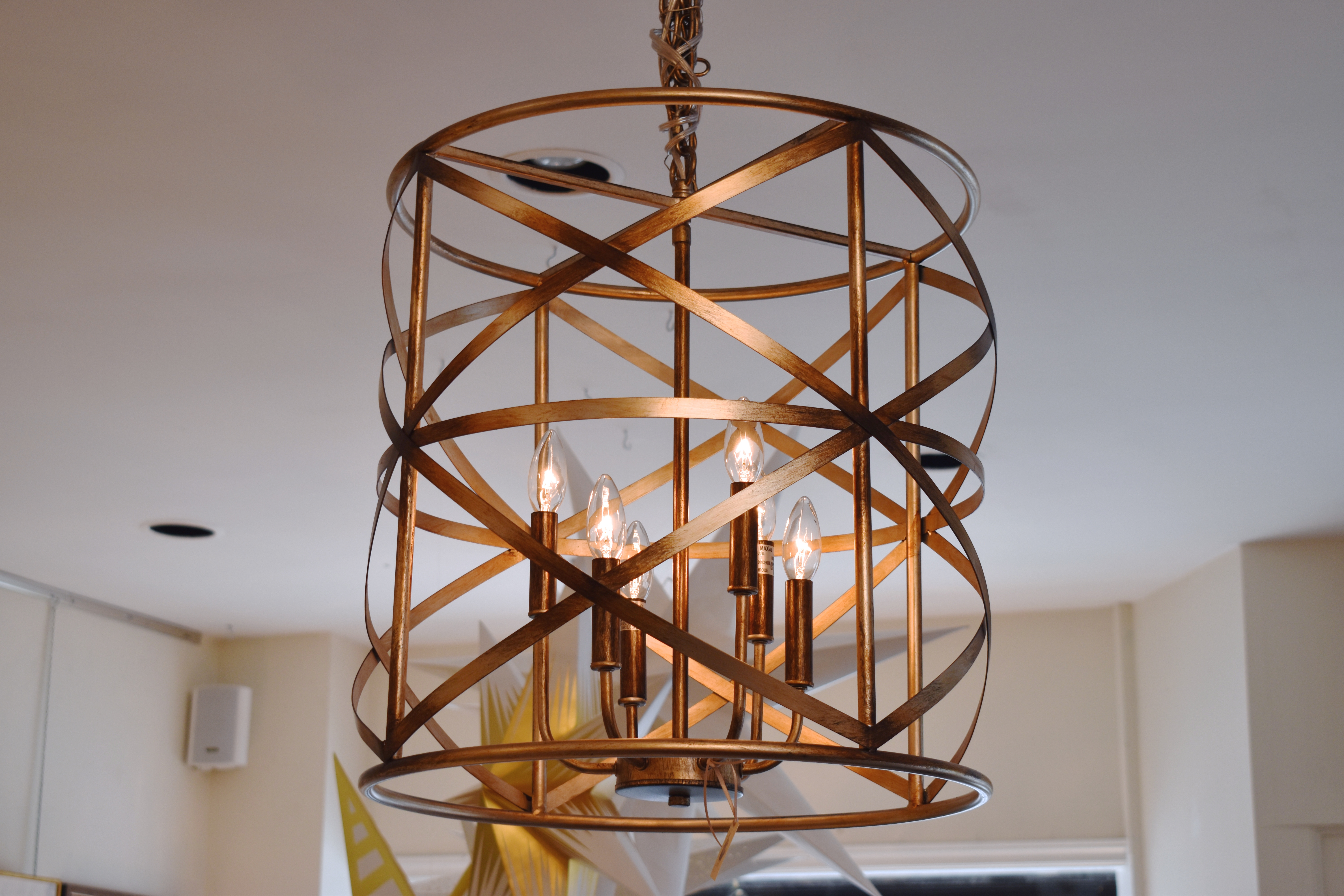 Brushed Brass Chandeliere