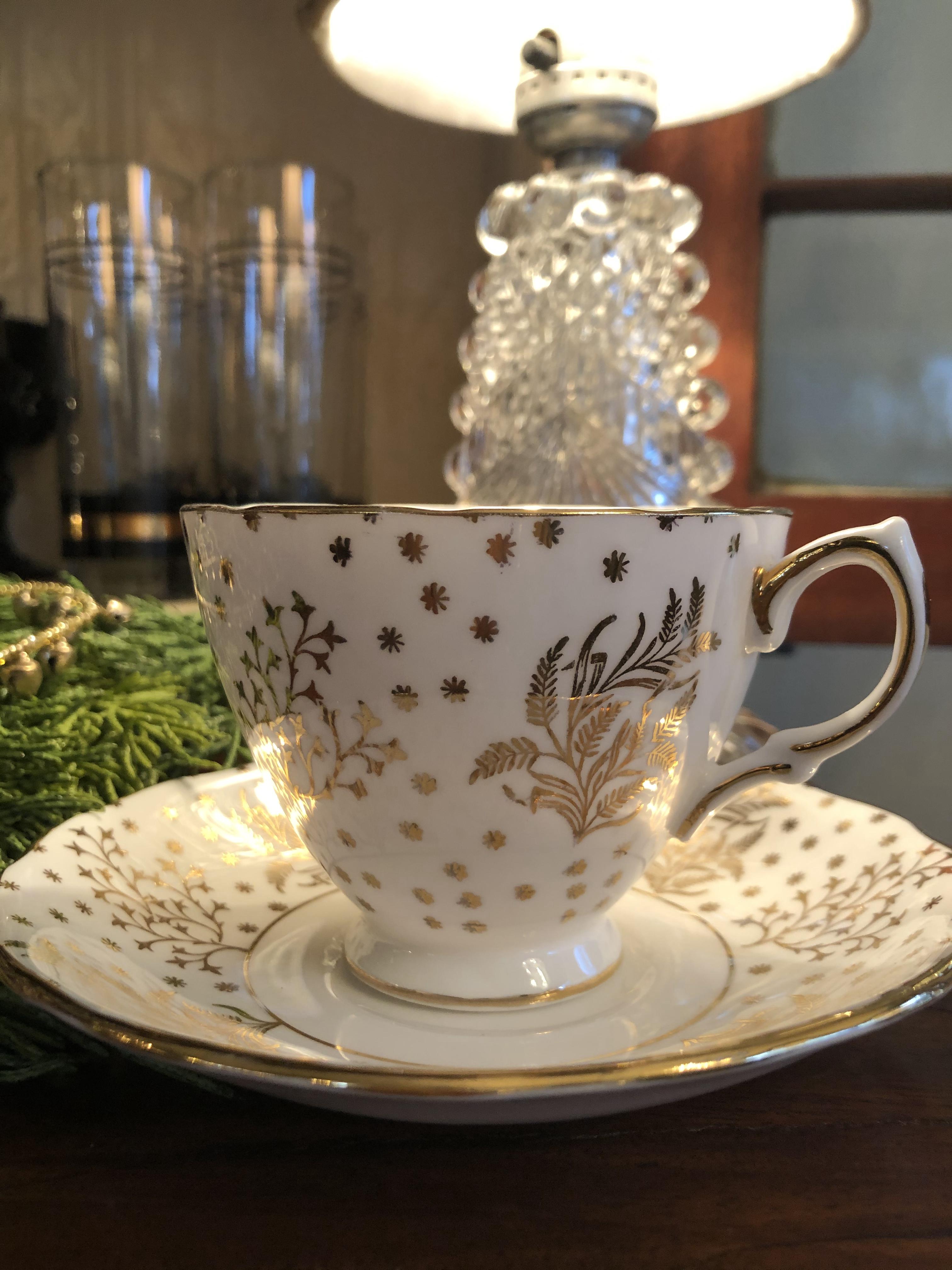 Vintage English Fern Tea Cup