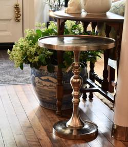 Nickle Pedestal Tables
