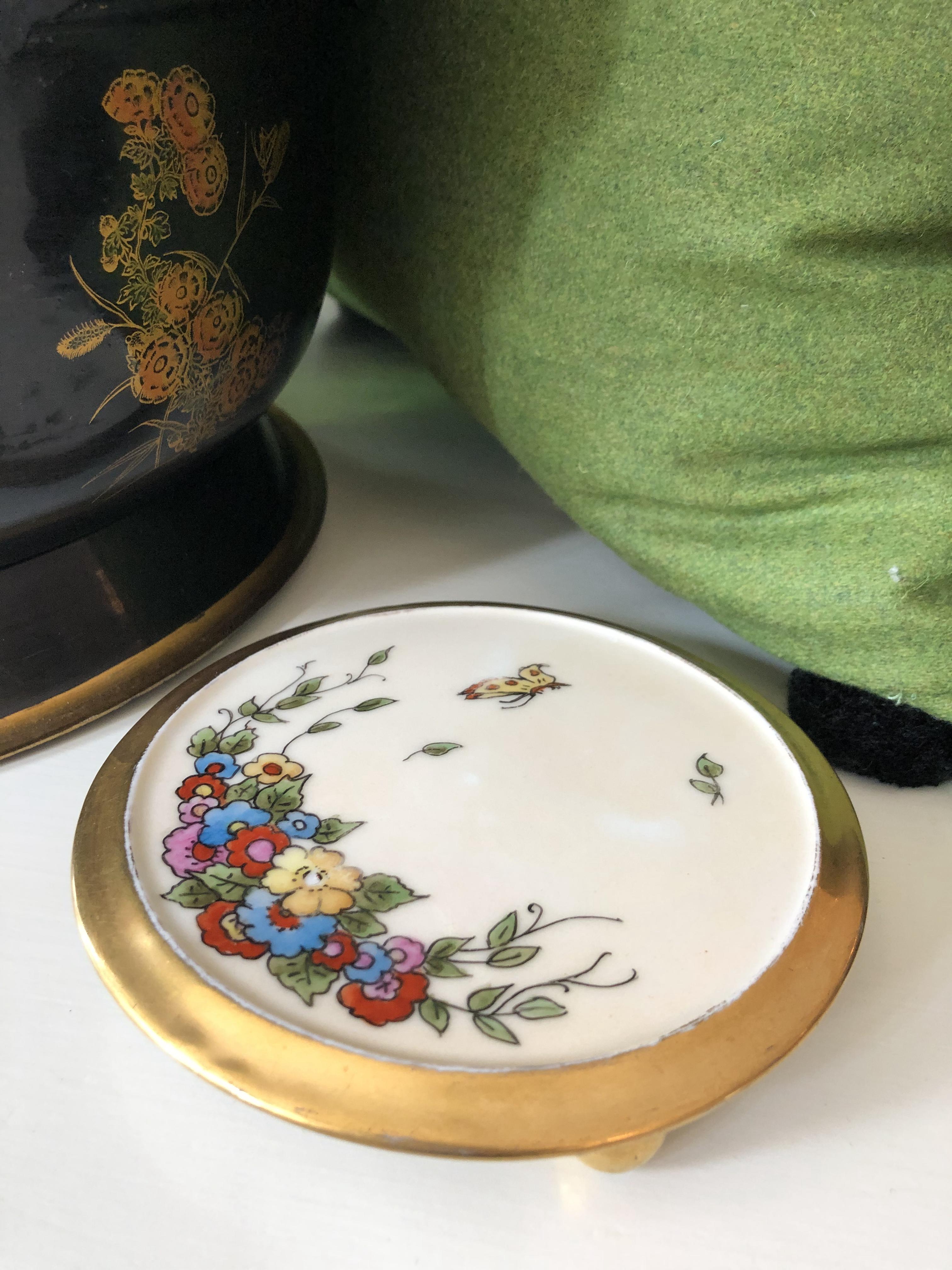 Vintage Handpainted Porcelaine Trivet