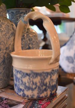 Signed Studio Art Ceramic Basket