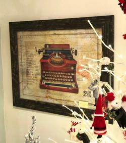 Red Typewriter Print