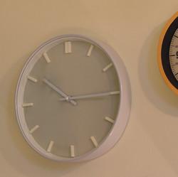 Simple White on White Clock