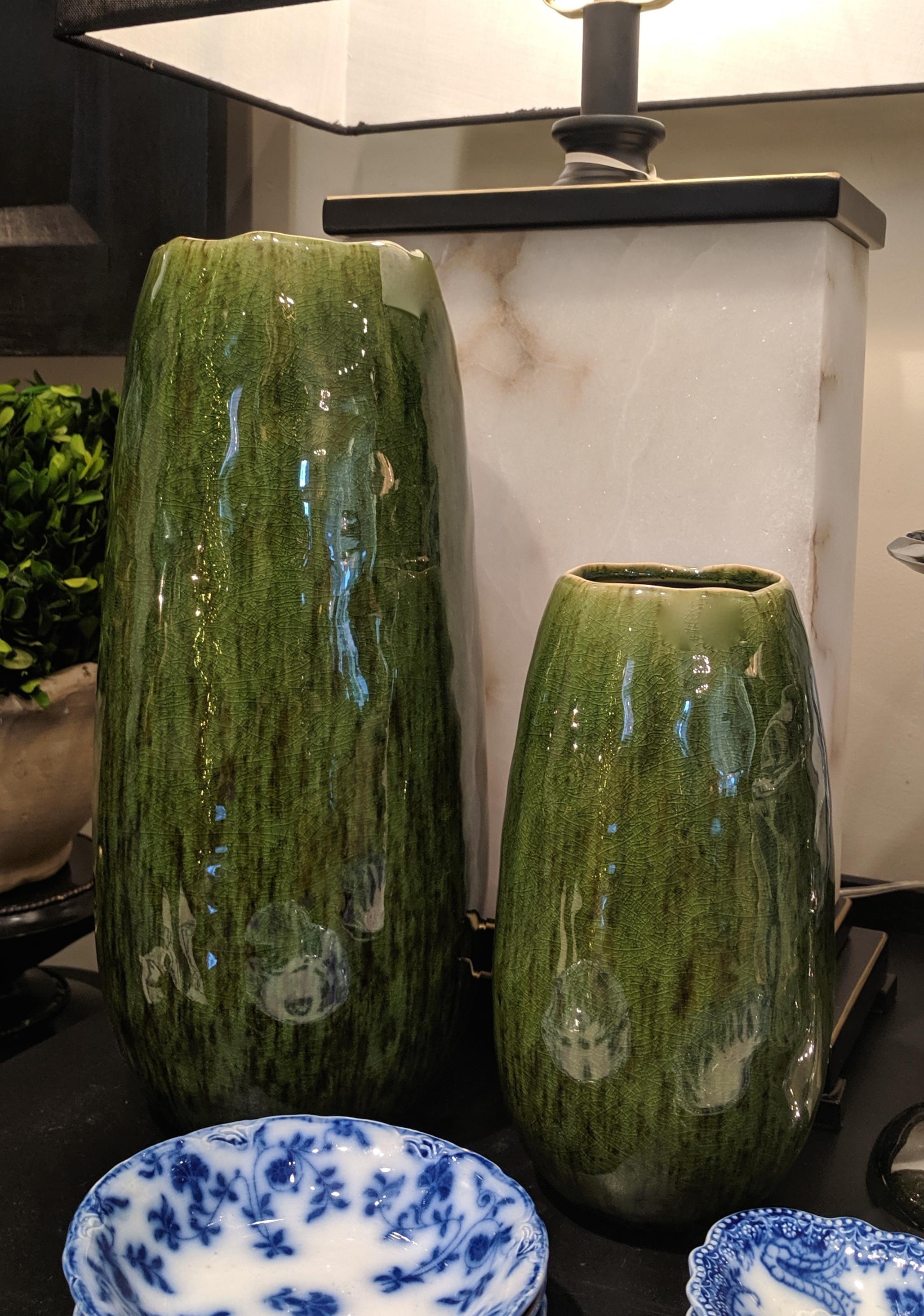 Green Ceramic Vases
