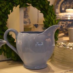 Petalware  Blue Ceramic Pitcher