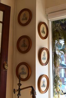 Set of 6 Vintage Framed Prints