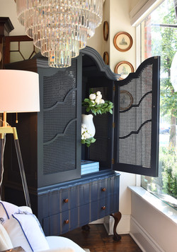 Beautifully Restored & Painted Vintage Hutch