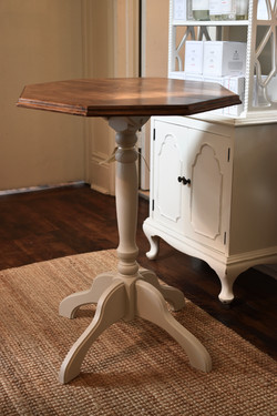 Small Painted Vintage Pedestal Table