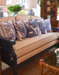 Designer Feather Accent Cushions - Coral Series