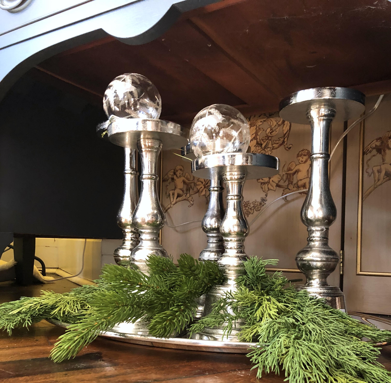 Metal Pillar Candle Holders