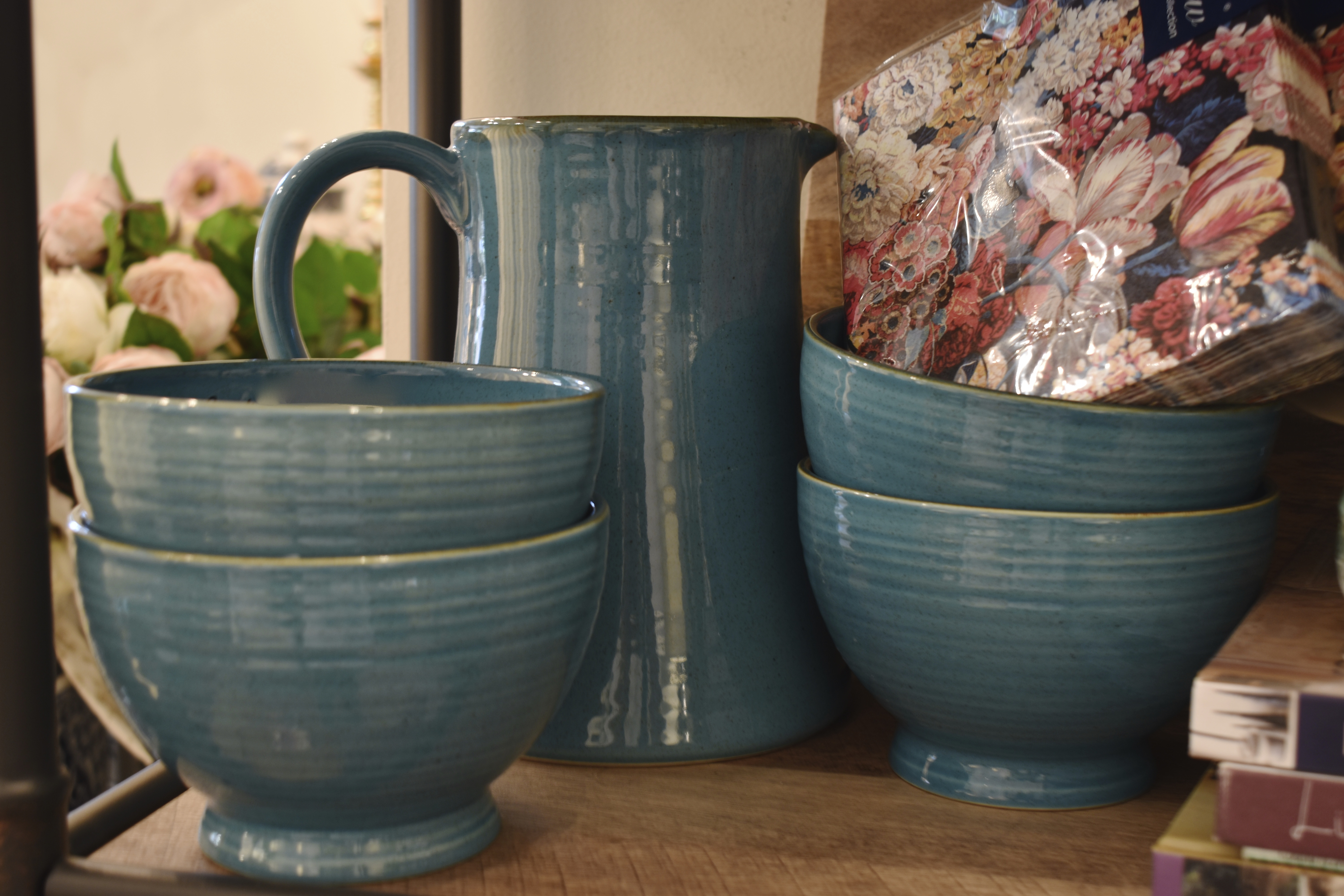 Ceramic Bowls and Pitcher