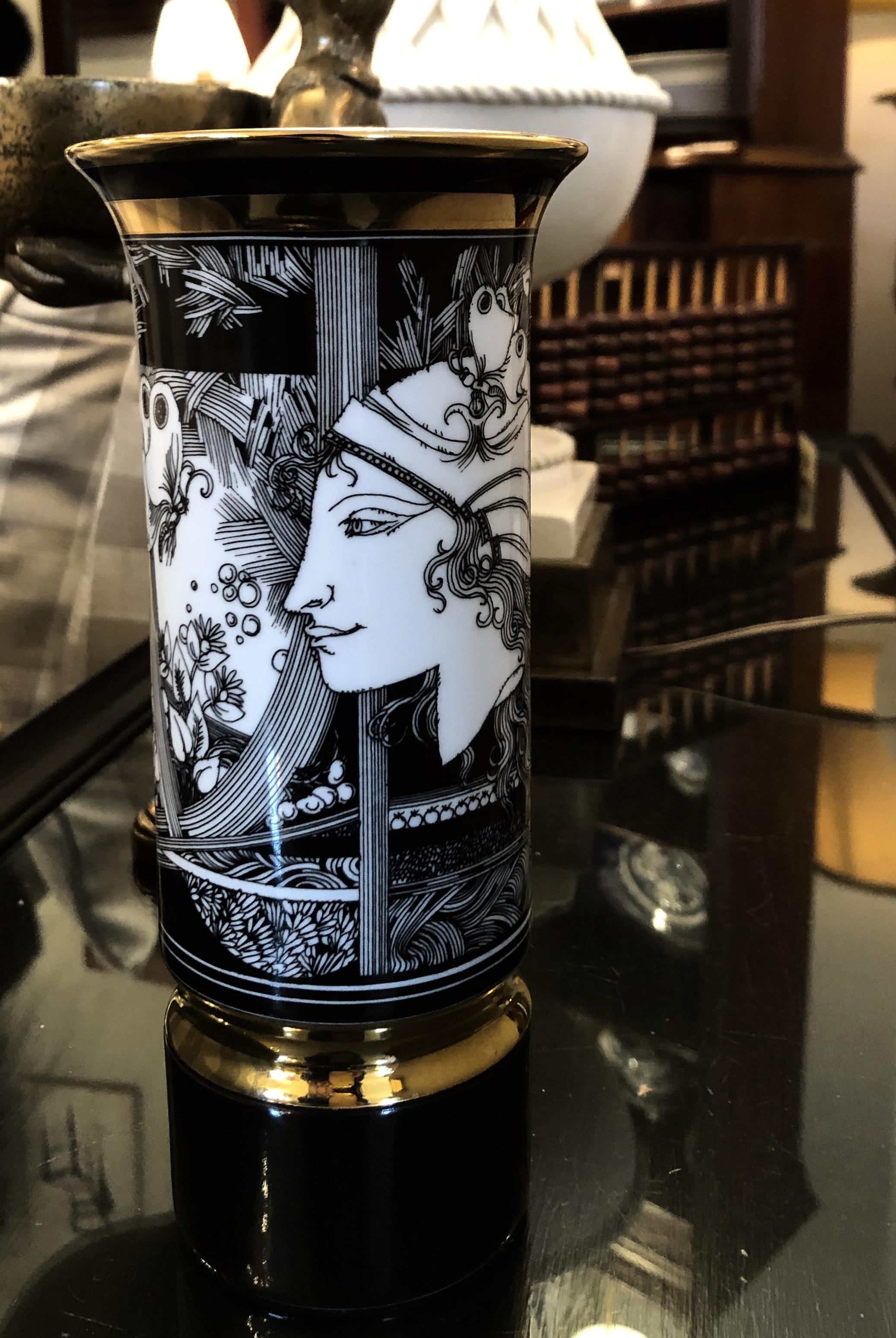 Rare Vintage Andre Szasz Hollohaza Vase