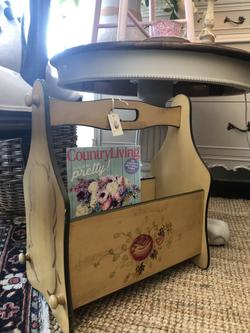 Vintage Painted Magazine Stand