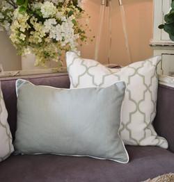 Designer Feather Accent Cushion
