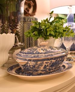Blue Willow Tureen & Platter