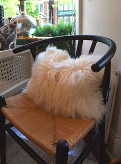 """12x18"""" Mongolian Fur Cushion"""