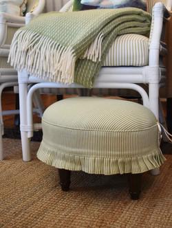 Custom Upholstered Footstool