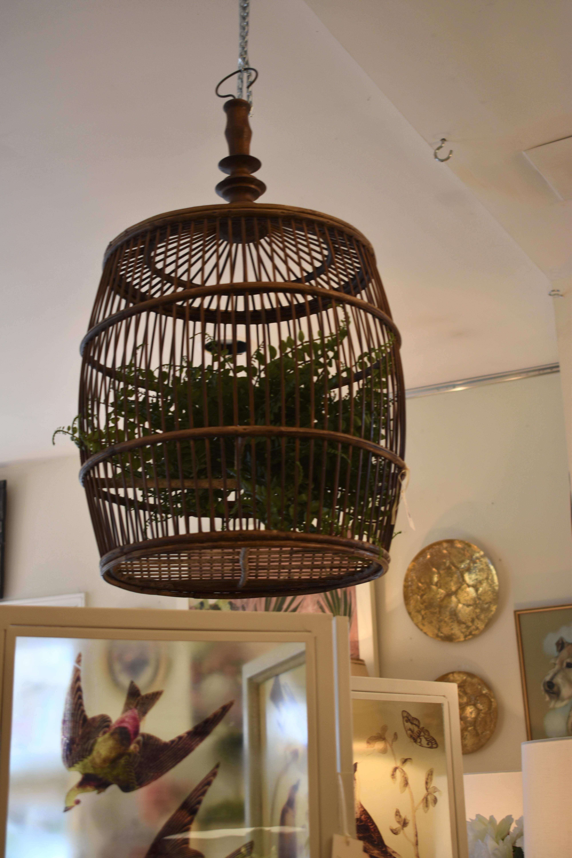 Antique Wooden Bird Cage