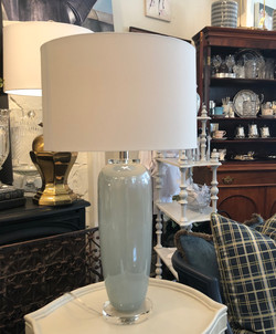 Blue Iridescent Glass Lamps