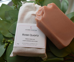 Rose Quartz Pink Clay Soap Bars