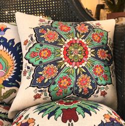 Medallion I -Cotton Floral Cushions