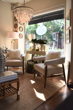 Everest Chair in Cream Boucle
