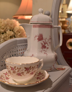 Vintage Hot Chocolate Pot & Cup and Sauc