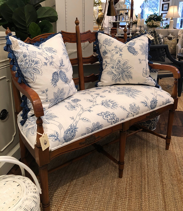 Newly Reupholstered Bench