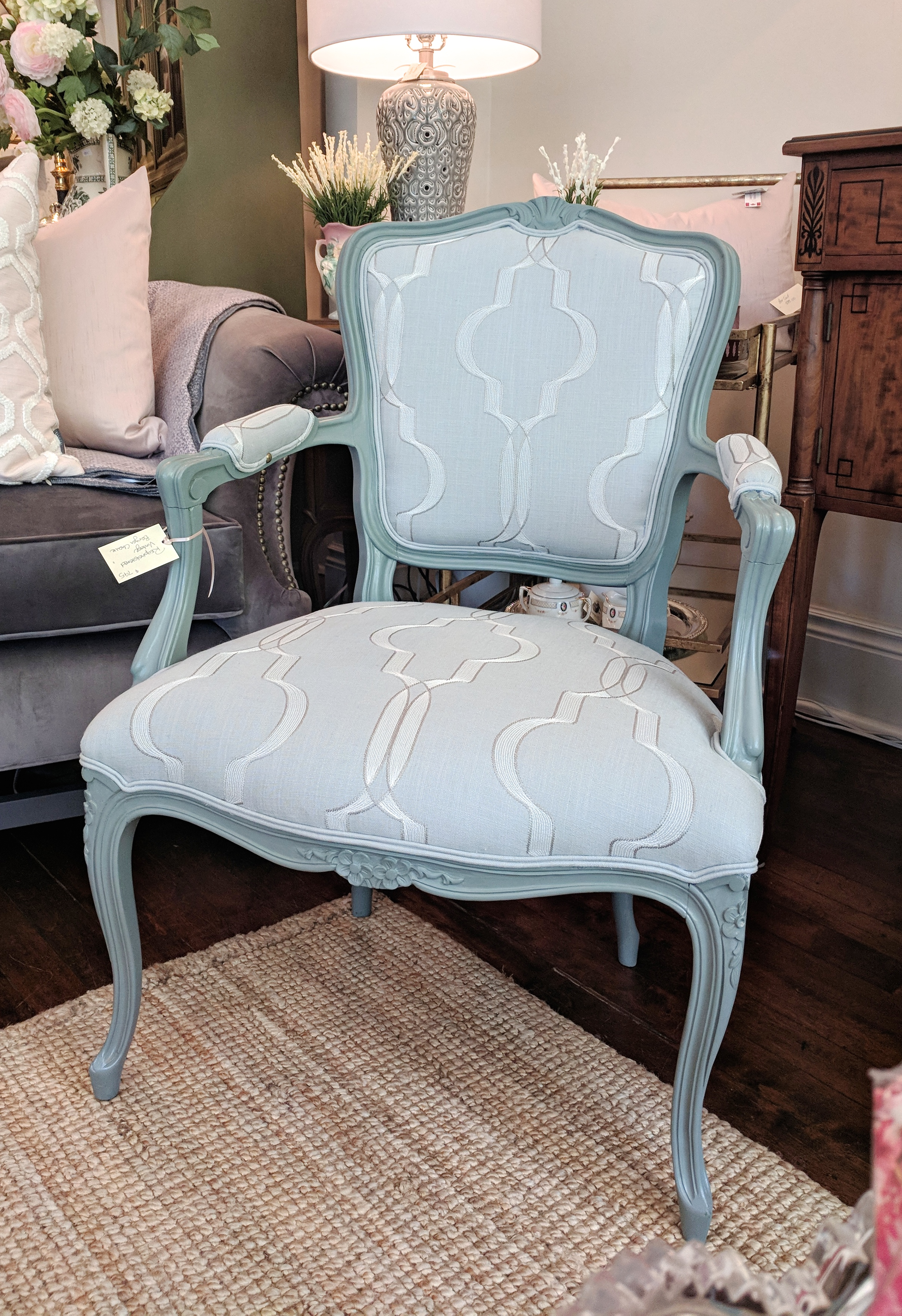 Pair of Vintage Reupholstered Chairs