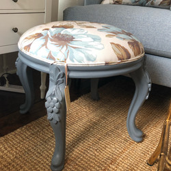 Newly Reupholsered Footstool