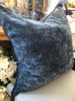 """22"""" Crushed Velvet Feather Cushion"""
