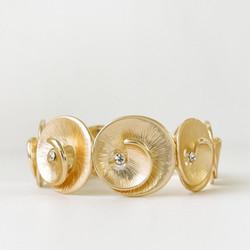 Gold Metallic Swirl Bracelet