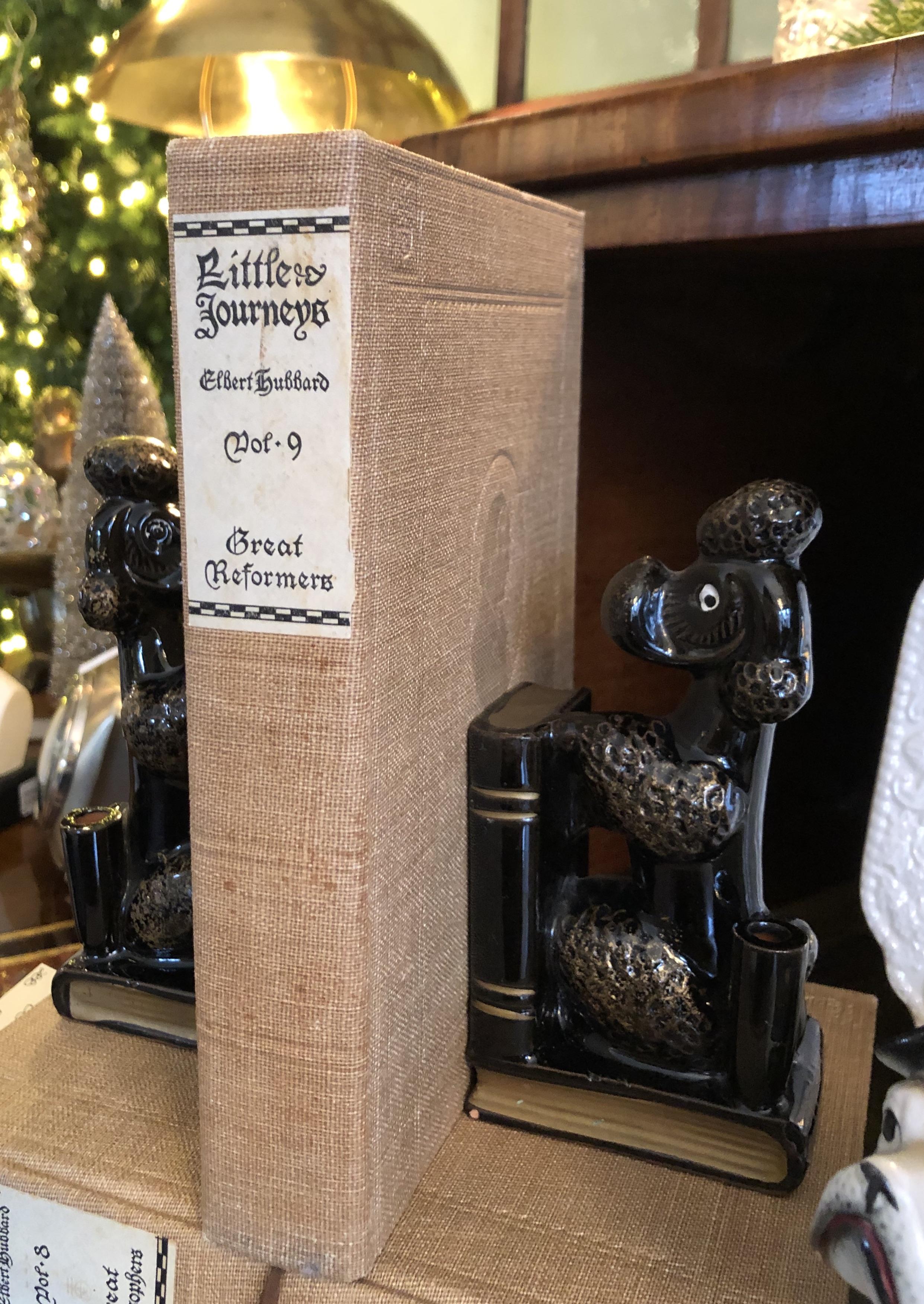 Vintage Ceramic Poodle Bookends