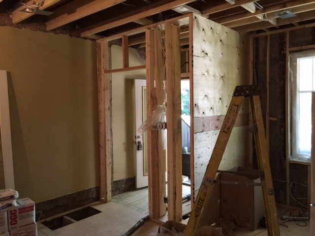 Construction - Entrance Closet Framing