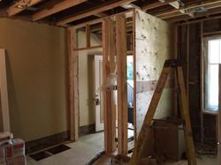 Construction - Entrance Closet Framing