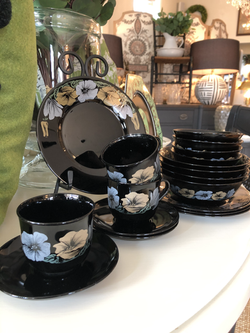Rare French Arcoroc Lunch Set