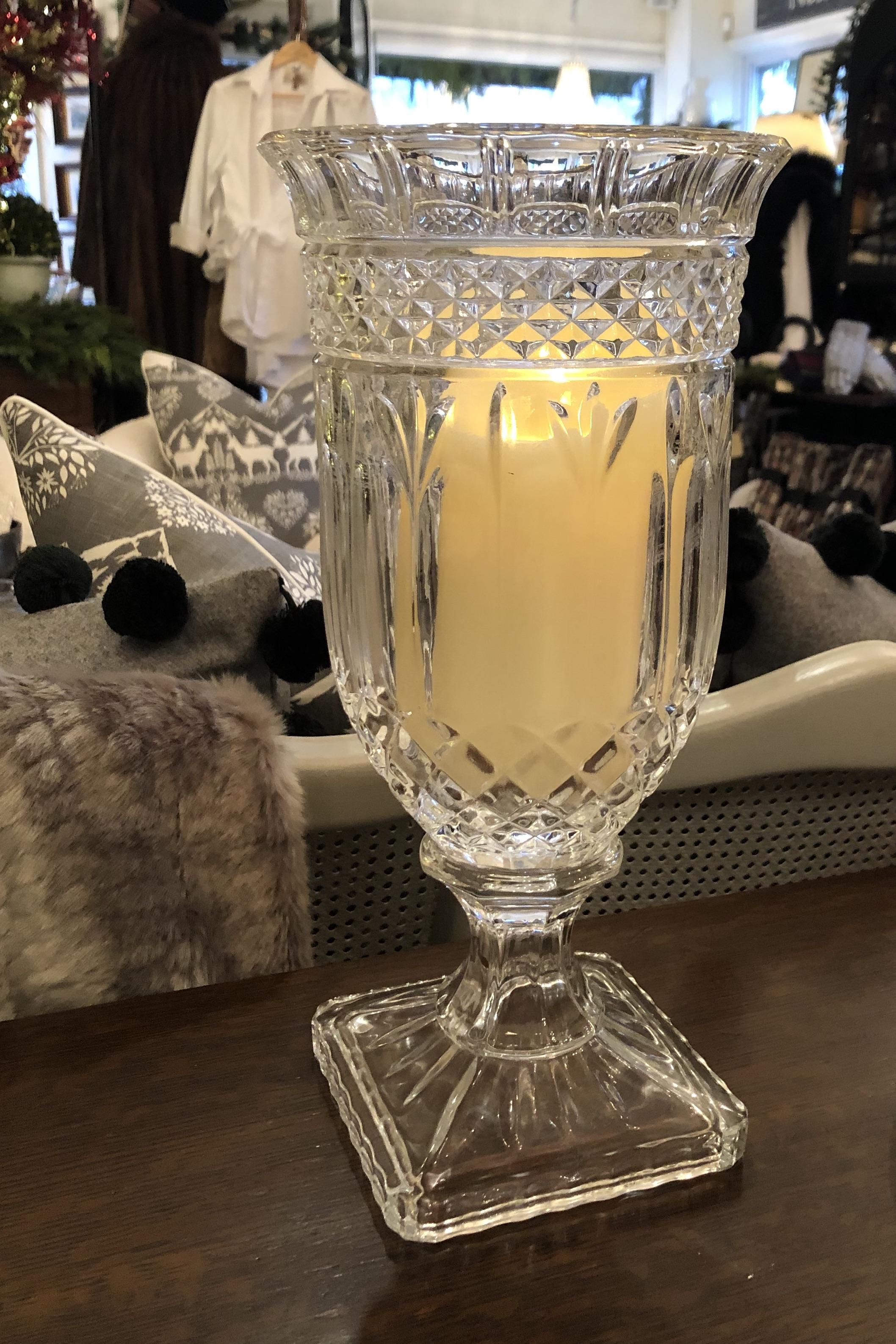 Crystal Vase/ Candle Holder