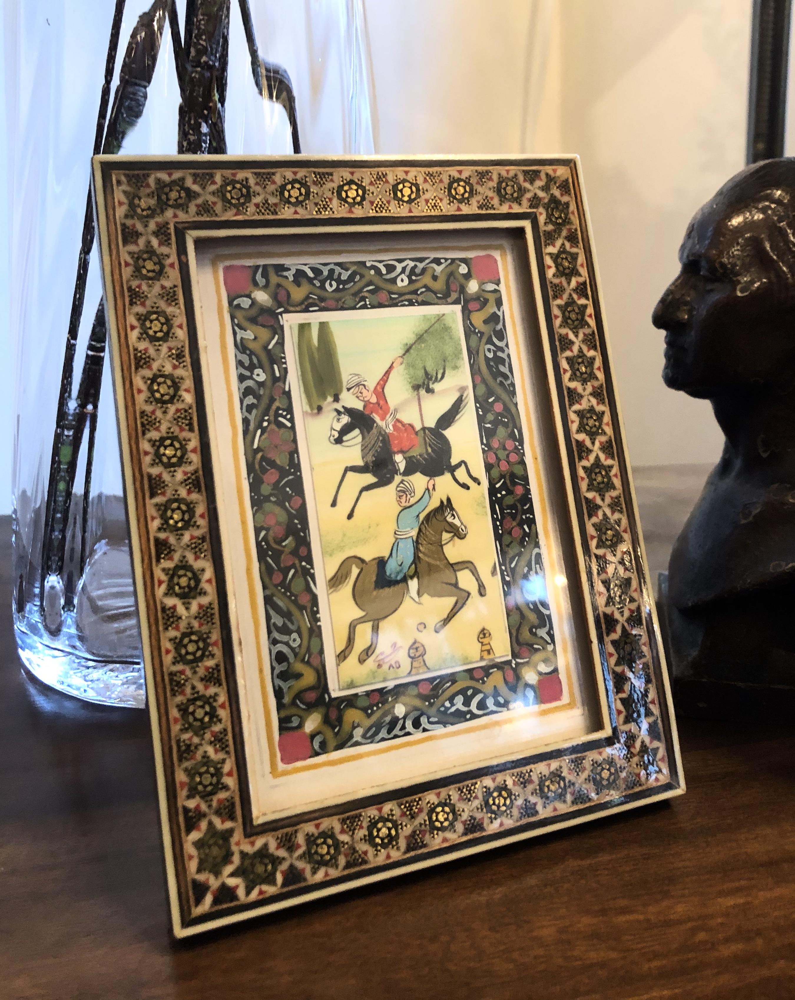 Vintage Persian Framed MicroMosaic
