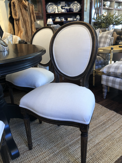 Newly Reupholstered Vintage Dining Chairs