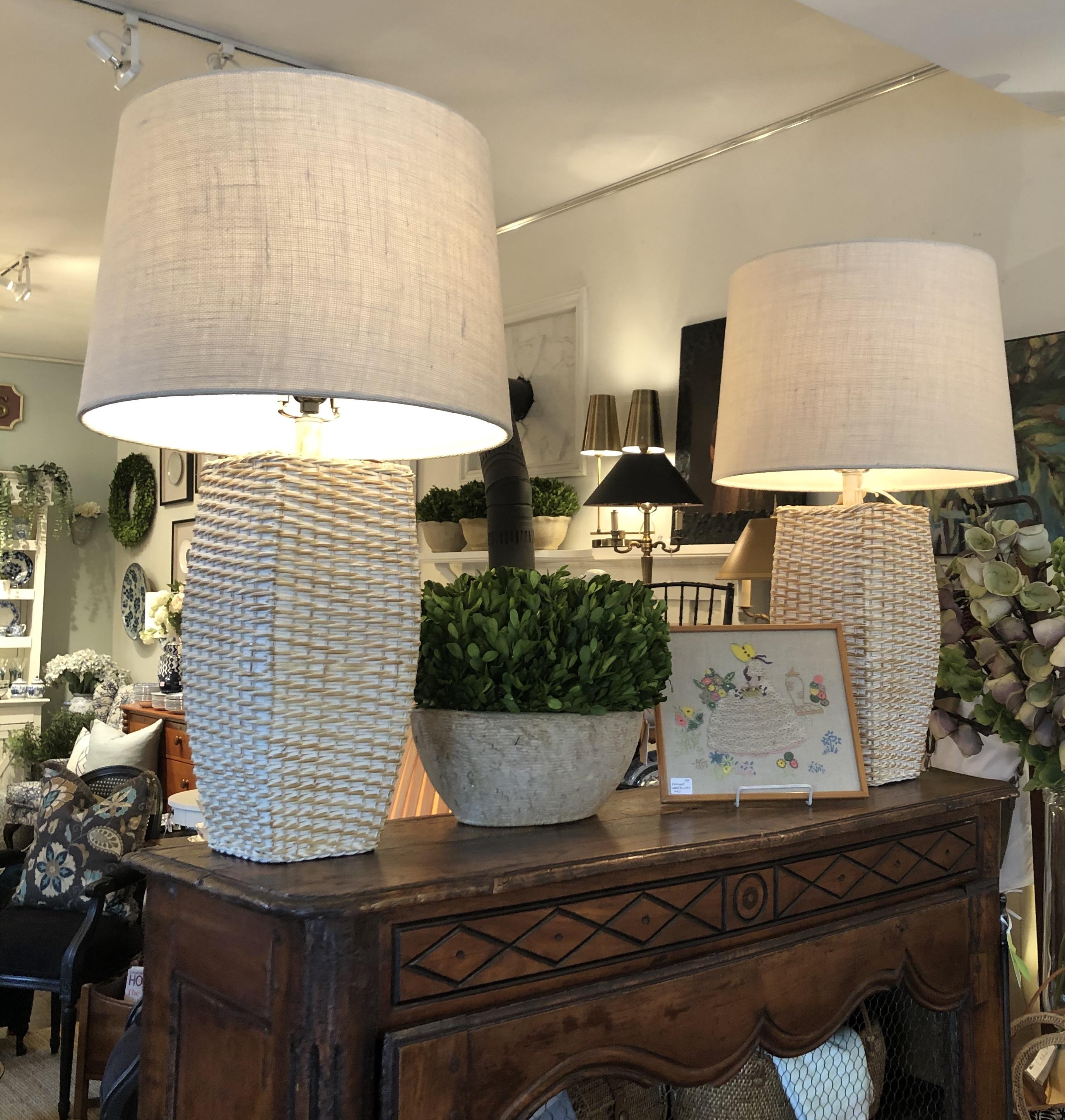 Rattan Lamps