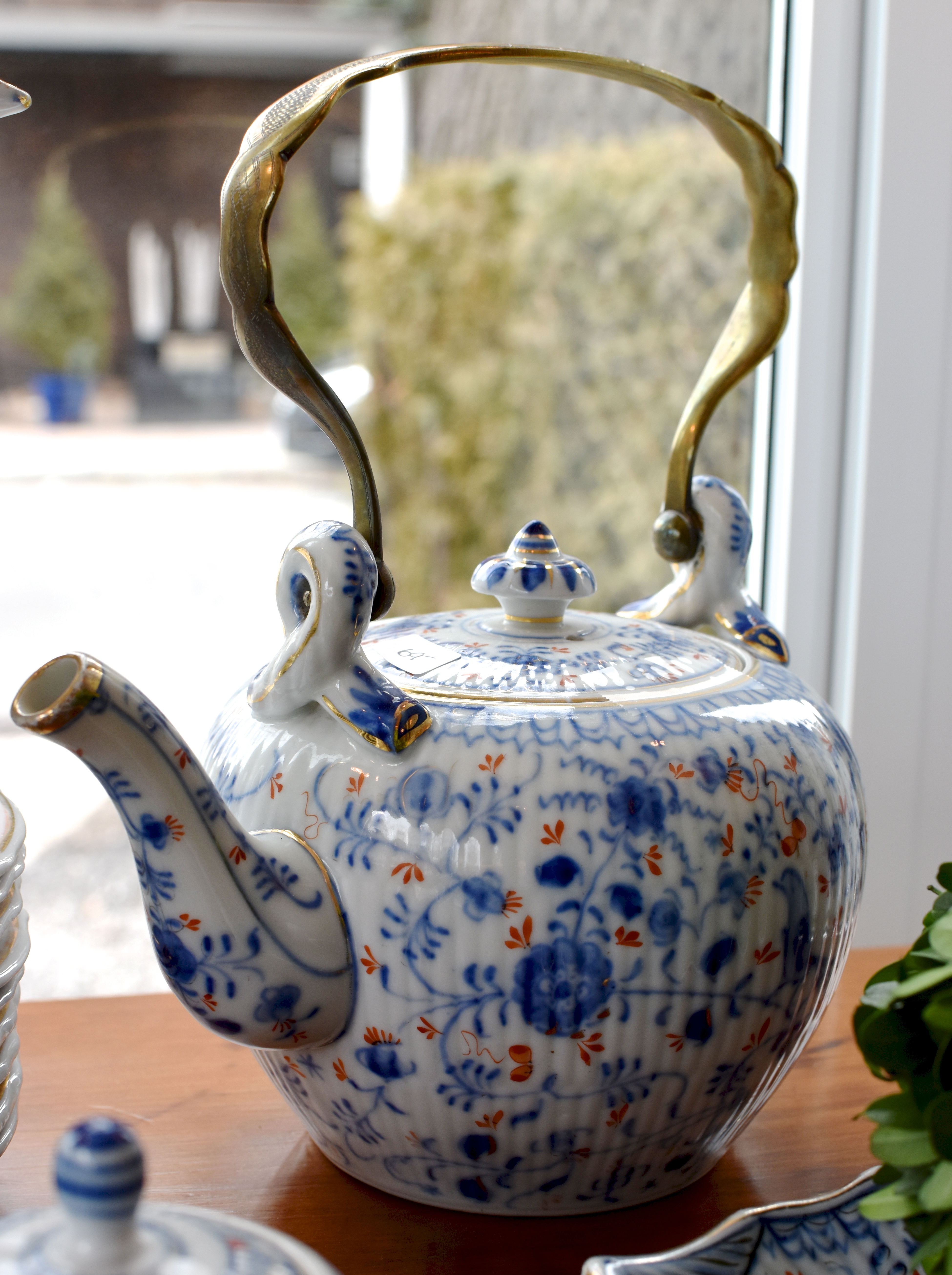 Vintage Teapot with Brass Handle