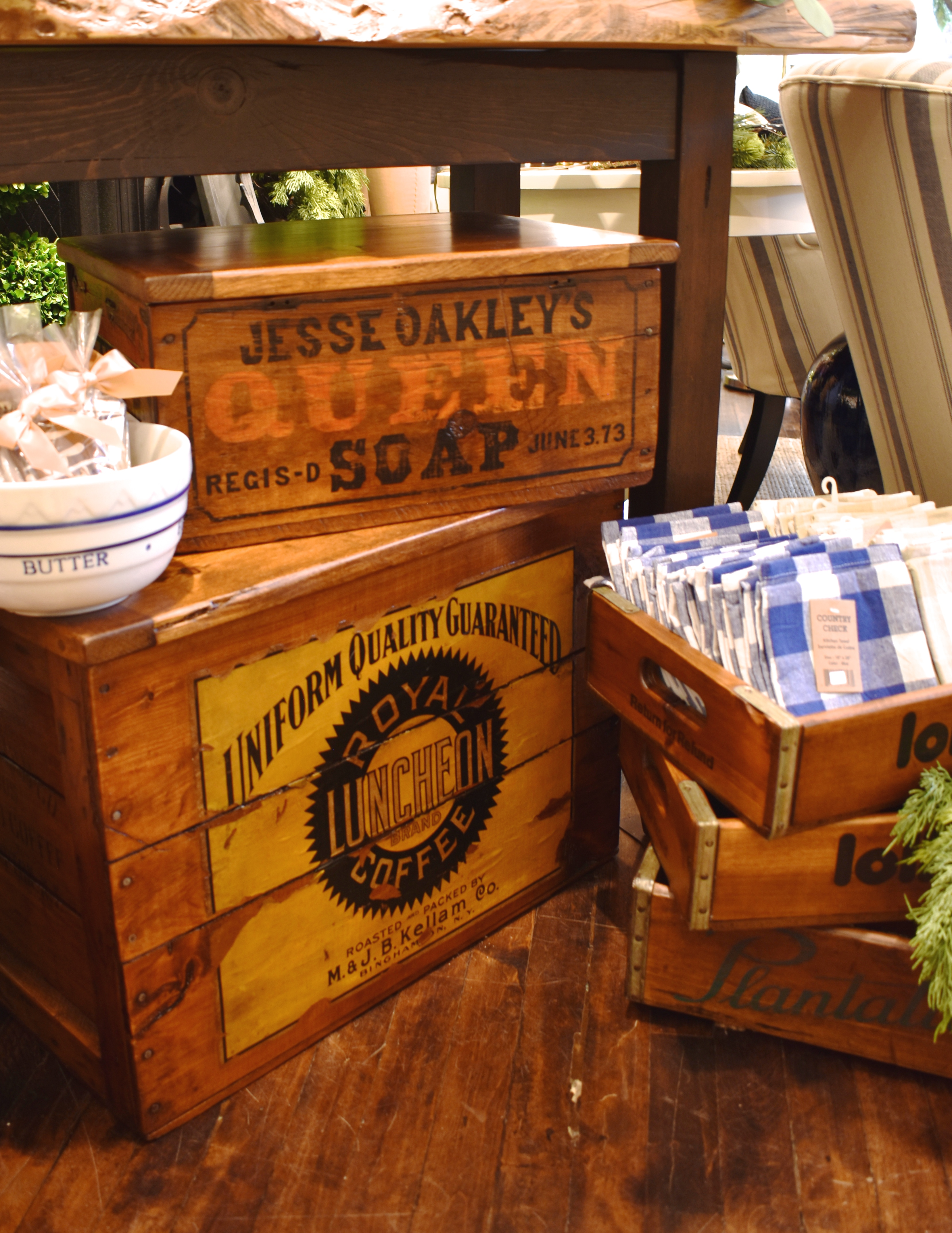 Assorted Vintage Wooden Boxes