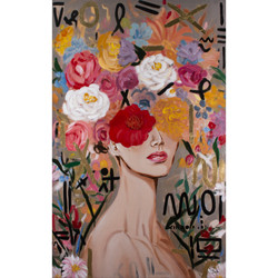 LOLA - Giclee Canvas w/ Gold Accents
