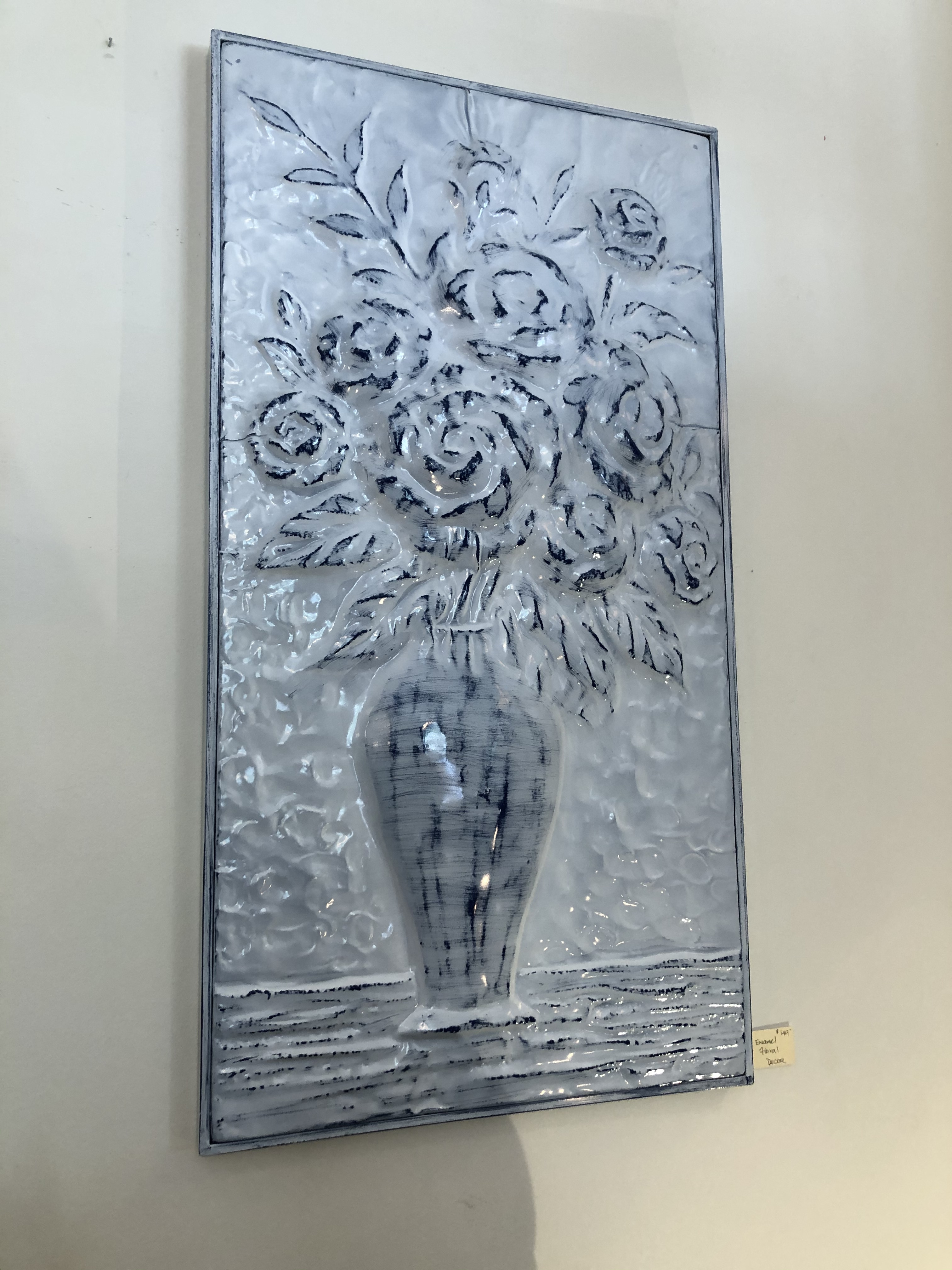 Tin Floral Relief Art