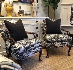 Reupholstered Antique Wishbone Chairs