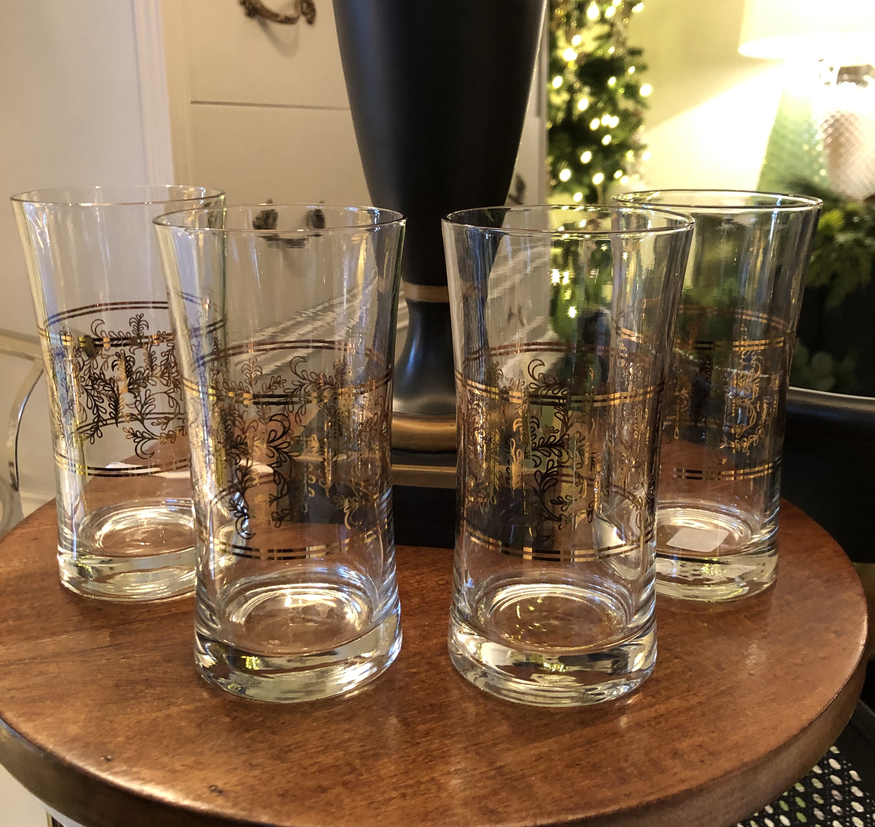 Set of 4 Vintage Drinking Glass